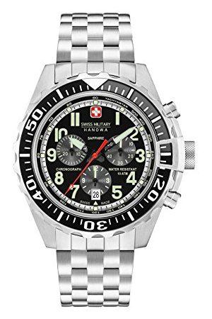 Swiss Military Herr Chronograph kvartsur med rostfritt stål armband 06–5304.04.007