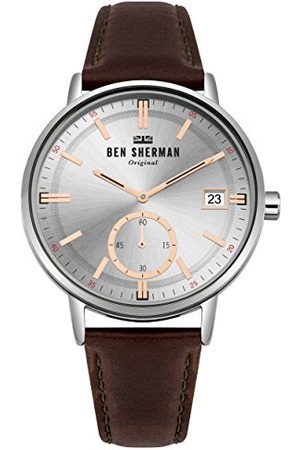 Ben Sherman Herr analog klassisk kvartsklocka med läderrem WB071SBR