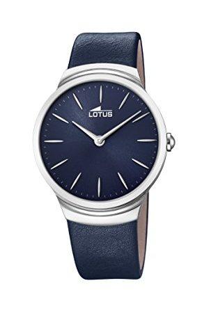 Lotus Lotus klockor herr analog klassisk kvartsklocka med läderrem 18498/3