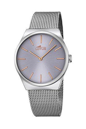 Lotus Unisex analog kvartsklocka med rostfritt stål armband 18285/2