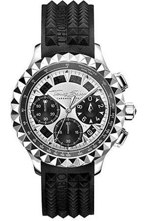 Thomas Sabo Herr analog kvartsklocka med gummi armband WA0357-214-201-43 mm