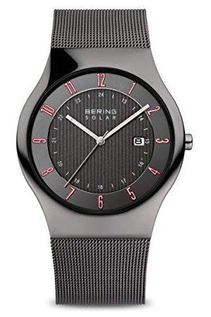 Bering Herr analog soldriven klocka med rostfritt stålrem 14640-077