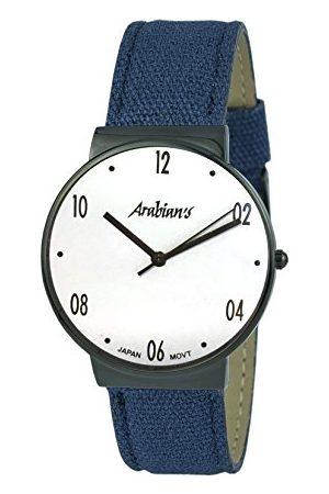 ARABIANS Analog kvartsklocka för män med textilrem HNA2236EBA