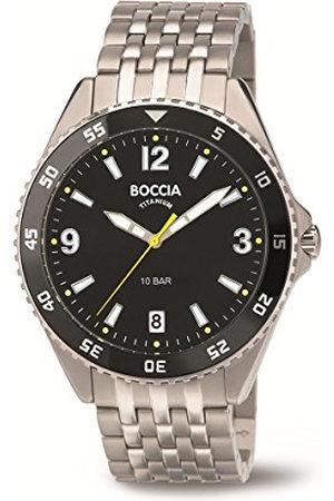Boccia Man Klockor - Herr digital kvarts klocka med titan armband 3599–03