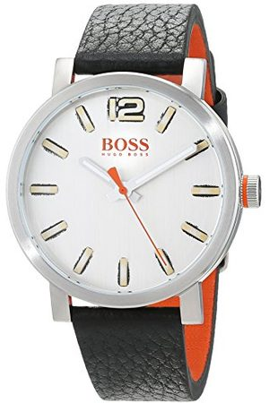HUGO BOSS Orange herr analog klassisk kvartsklocka med läderrem 1550035