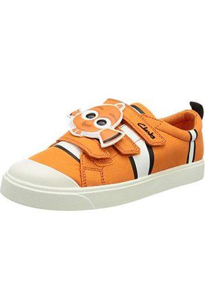 Clarks Pojkar City Nemo K Sneaker, kanvas - 31 EU