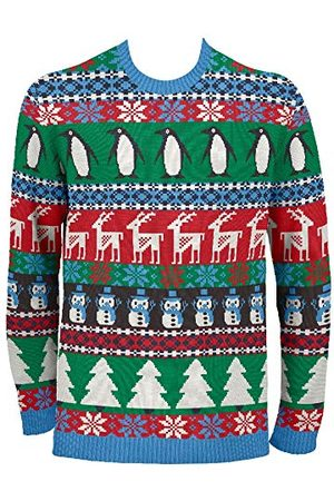 British Christmas Jumpers Brittiska jultröjor herr komisk pingvin jul eko-jultröja
