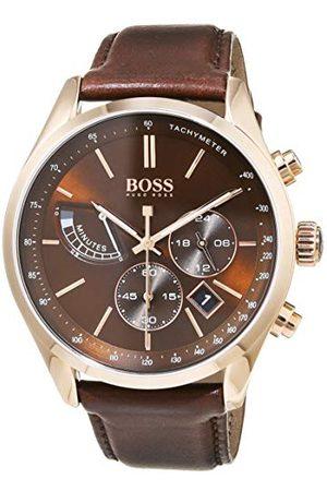 HUGO BOSS Herr kronograf kvartsklocka med läderrem 1513605