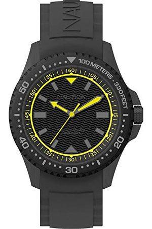 Nautica Herr analog kvartsklocka med silikonarmband NAPMAU006