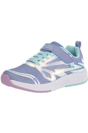 Skechers Flicka Speed Runner Sneaker, Lavendel gnistrande nät aqua trim18 EU
