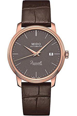 MIDO Herr analog automatisk klocka med läderarmband M0274073608000