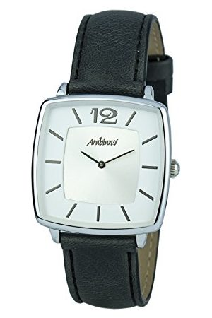 ARABIANS Herr analog kvartsklocka med läderarmband HBA2245N