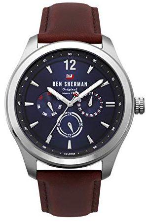 Ben Sherman Herr multiurtavla kvartsklocka med läderrem WBS112UT