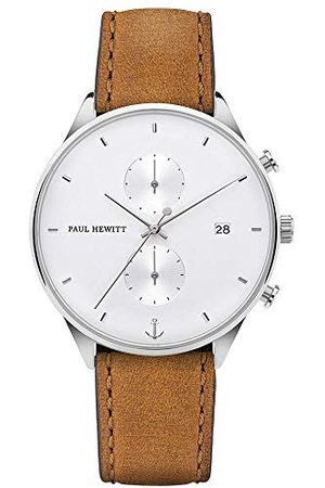Paul Hewitt Herr kronograf kvartsur med läderarmband PH-C-S-W-49M