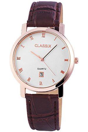 CLASSIX Herr analog kvartsklocka med läderarmband RP3103200001