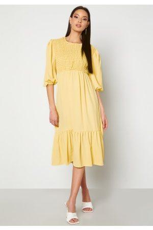 John Zack Smock Midaxi Dress Lemon XXS (UK6)