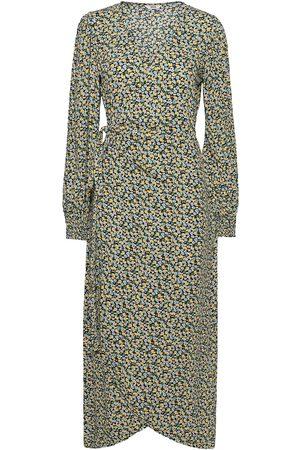 Envii Encolombine Dress Aop 6736 Maxiklänning Festklänning Grön