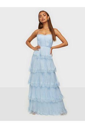 True Decadence Kvinna Festklänningar - Lace Pleated Maxi Dress Loose fit