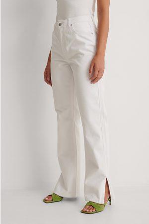 NA-KD Trend Kvinna High waist - Raka Jeans Med Hög Midja Och Sidoslits
