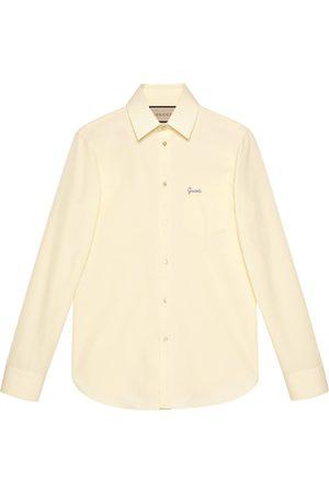 Gucci Poplin tailored shirt with script