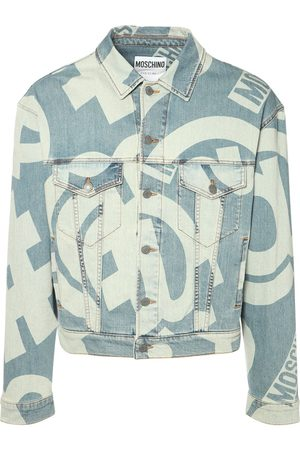 Moschino Symbols Print Denim Stretch Jacket