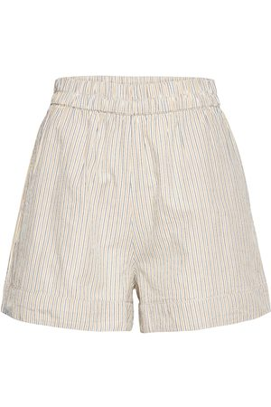 2nd Day Kvinna Shorts - 2nd Kassandra Stripe Shorts Flowy Shorts/Casual Shorts Vit