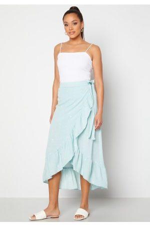 Y.A.S Kvinna Maxikjolar - Yvonne HW Long Wrap Skirt Star White Yvonne Pr XS