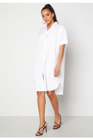 SisterS point Kvinna Midiklänningar - Meda Shirt 100 White L
