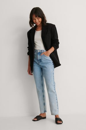 NA-KD Rigid Mom-Jeans