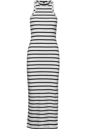 French Connection Tommy Rib Jersey Racer Neck Dr Dresses Bodycon Dresses Vit