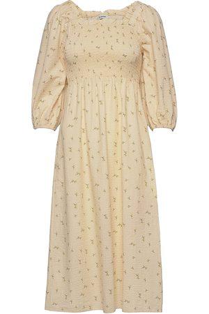 Modstrom Kvinna Mönstrade klänningar - Tinne Print Dress Knälång Klänning Creme
