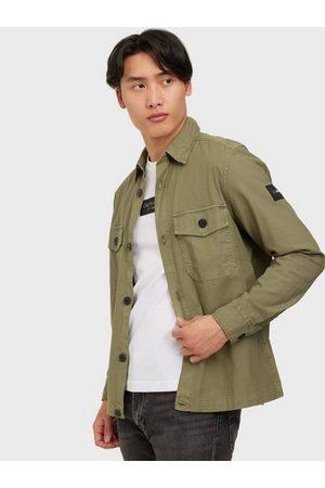 Calvin Klein Man Casual skjortor - Garment Dye Over Shirt Skjorta Green
