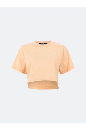 BIKBOK Kvinna T-shirts - Crop t-shirt i bomull - Persika