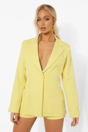 Boohoo Kvinna Kavajer - Figursydd Kavaj, Yellow