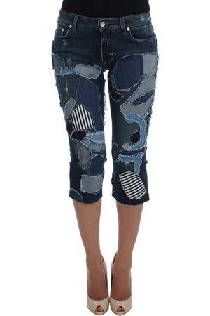 Dolce & Gabbana Stretch Patchwork Jeans Shorts