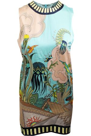 HOLLY FULTON Print Silk Dress