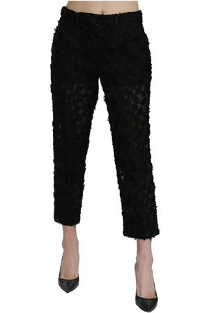 Dolce & Gabbana Lace Straight Cropped High Waist Pants