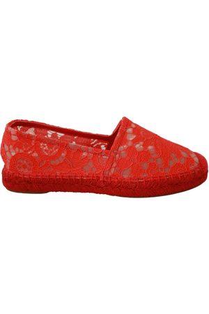 Dolce & Gabbana Lace Cotton Espadrilles Flats Shoes