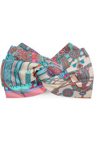 Gucci Tassel and chain print silk headband