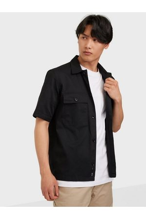 Only & Sons Onsnoar Compact Ss Tc Twill Overshi Skjorta Black