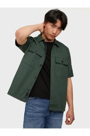 Only & Sons Onsnoar Compact Ss Tc Twill Overshi Skjorta Jungle Green