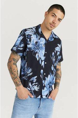Woodbird Kortärmad Skjorta Bleever Flower Shirt