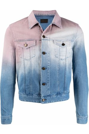 Saint Laurent Gradient-effect denim jacket