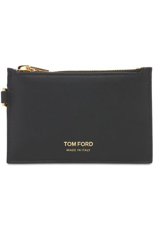 Tom Ford Logo Small Zip Wallet W/ Neck Strap