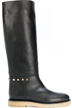VALENTINO GARAVANI Kvinna Boots - Rockstud knähöga stövlar