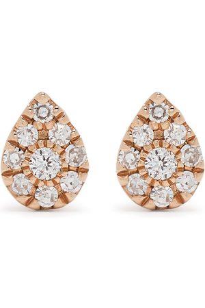 Djula Pear diamantörhängen i 18K roséguld