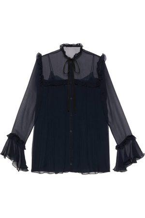 Gucci Silk chiffon ruffle shirt