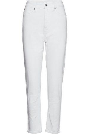 Ivy Copenhagen Angie Mom Jeans White Slimfit Byxor Stuprörsbyxor
