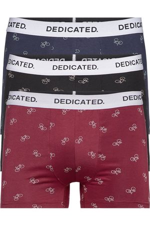 Dedicated Boxer Briefs Kalix Bike Pattern 3-Pack Boxerkalsonger Röd