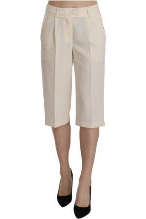 Silvian Heach Kvinna Trekvartsbyxor - Mid Waist Straight Cropped Pants